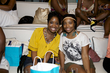 naturals at the curly pool party - kinky hair