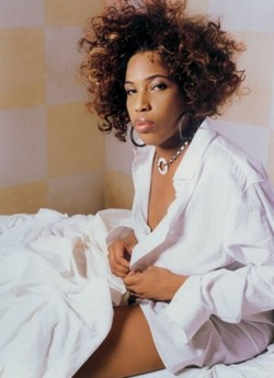 Macy Gray - Brunette, 4a, Short hair styles, Medium hair styles, Kinky hair, Female hairstyle picture