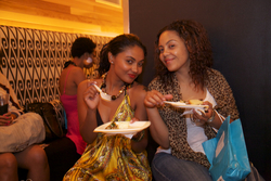 Curlies Enjoying Snacks at the Curly Pool Party - Wavy hair, Medium hair styles, Female, Curly hair, Adult hair, Textured Tales from the Street hairstyle picture
