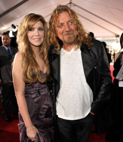 Allison Krause and Robert Plant - 3a, Celebrities, Male, Medium hair styles, Long hair styles, Special occasion, Female, 2009 Grammy Awards hairstyle picture