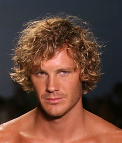 Bed Head Curls - Blonde, Wavy hair, Male, Medium hair styles, Styles, Curly hair, 2c hairstyle picture