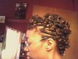 curly fries mohawk - Bantu knots