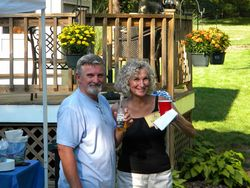 Block Party 9-09  Barbara and Roger - 3b, Mature hair, Medium hair styles, Readers, Female, Curly hair, Gray hair, Bob hairstyles hairstyle picture