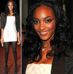 Jourdan Dunn - Celebrities, Long hair styles, Styles, Female, Curly hair, Black hair, Adult hair, Spiral curls, Curly kinky hair hairstyle picture
