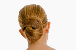 Fancy Bun for Straight Hair - Blonde, Updos, Long hair styles, Wedding hairstyles, Styles, Female, Adult hair, Straight hair, Prom hairstyles, Formal hairstyles, Homecoming hairstyles, Knots, Buns hairstyle picture