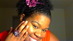 Pretty Flower - 3b, 3c, Medium hair styles, Kinky hair, Styles, Female, Curly hair, Black hair, Adult hair, Ponytail, Curly kinky hair hairstyle picture