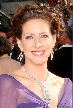Joley Fisher - Brunette, Celebrities, Updos, Special occasion, Female, Curly hair, 2009 Emmy Awards hairstyle picture