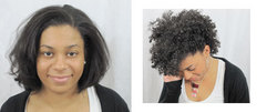 Curl Junkie Maks Over Yesenia - Brunette, Short hair styles, Kinky hair, Female, Makeovers hairstyle picture