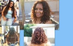 curly hair make-over - Brunette, 3b, 3a, Medium hair styles, Female, Curly hair, Makeovers hairstyle picture