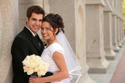 Front view of wedding hair - Wedding hairstyles, Readers hairstyle picture