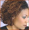 Miko - Brunette, Medium hair styles, Kinky hair, Braids, Styles, Female, Black hair, Micro braids, Hair extensions hairstyle picture