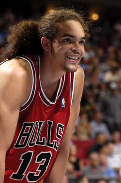 Joakim Noah - Brunette, 3c, Celebrities, Male, Kinky hair, Long hair styles hairstyle picture