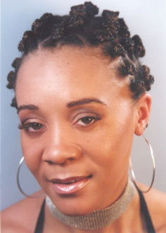 Bantu Knots - Brunette, Kinky hair, Styles, Female, Adult hair, Bantu knots, Nubian knots hairstyle picture