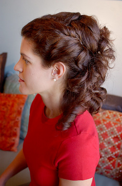 Formal Curly Look - Brunette, Female, Formal hairstyles, Formal hairstyles, Spiral curls, Spiral curls, Spiral curls hairstyle picture