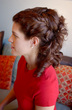 formal curly look -
