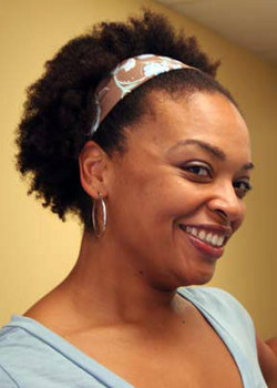 Headband beauty - Brunette, 4a, 4b, Short hair styles, Kinky hair, Afro, Styles, Female hairstyle picture
