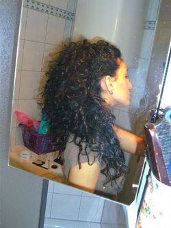 my hair - 3b, Updos, Long hair styles, Readers, Female, Curly hair, Black hair hairstyle picture