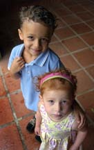 Two sweeties - Redhead, Brunette, 3b, Short hair styles, Kids hair, Styles, Curly hair hairstyle picture