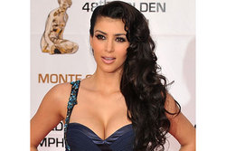 Kim Kardashian - Brunette, 2b, Celebrities, Long hair styles, Special occasion, Female hairstyle picture
