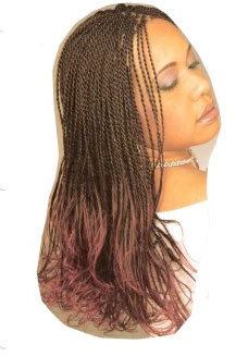 Senegalese Twists - Brunette, Long hair styles, Styles, Female, Adult hair, Senegalese twists hairstyle picture