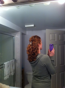 First day of Poo Less ness - Redhead, 3b, 3a, Medium hair styles, Long hair styles, Readers, Female, Curly hair, Adult hair hairstyle picture