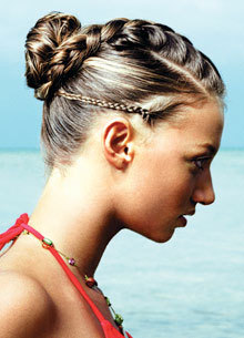 French Braid - Brunette, Braids, Styles, Female, Adult hair, Straight hair, French braids hairstyle picture