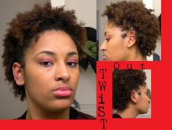 Twistout - Brunette, 4a, 4a, Short hair styles, Short hair styles, Kinky hair, Kinky hair, Readers, Readers, Styles, Styles, Female, Female, Teen hair, Teen hair, Black hair, Adult hair, Adult hair, Twist out, Twist out hairstyle picture
