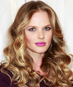 Anne Vyalitsyna - Blonde, 3a, Celebrities, Long hair styles, Female, Curly hair hairstyle picture