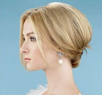 French Twist - Blonde, Wedding hairstyles, Styles, Female, Adult hair, Straight hair, Prom hairstyles, Formal hairstyles, Homecoming hairstyles, Knots, Buns, French twists hairstyle picture