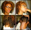color treated hair 3b 4a - Black hair