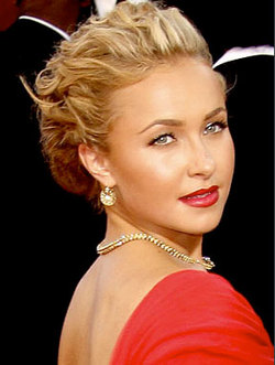 Hayden Panettiere - Blonde, Celebrities, Updos, Special occasion, Female, 2009 Emmy Awards hairstyle picture