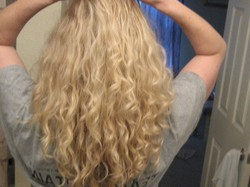 This is just after I let it dry naturally. - Blonde, 3a, Medium hair styles, Readers, Female, Curly hair, Adult hair hairstyle picture