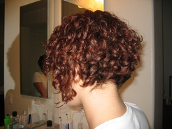 Inverted bob.. - Redhead, 3a, Short hair styles, Styles, Female, Curly hair hairstyle picture
