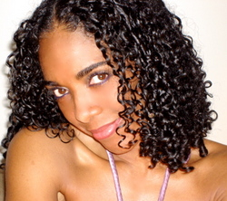 Curly Girl with random curl pattern - 3b, 3a, 3c, Medium hair styles, Readers, Styles, Female, Black hair hairstyle picture