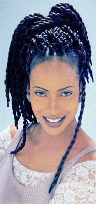 Senegalese Twists - Brunette, Long hair styles, Styles, Female, Black hair, Adult hair, Senegalese twists hairstyle picture