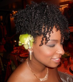 Bridesmaid TwistOut Updo - Wedding hairstyles, Readers hairstyle picture