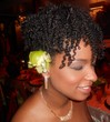bridesmaid twistout updo -