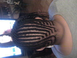 Cornrow Design by me - Short hair styles, Kinky hair, Readers, Female, Black hair, Adult hair, Cornrows hairstyle picture
