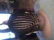 cornrow design by me - Kinky hair, 4a, 4b