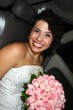 in the car - wedding hairstyles