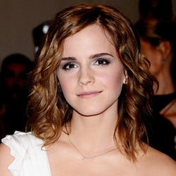 Emma Watson - Brunette, Wavy hair, Medium hair styles, Readers, Female, Adult hair hairstyle picture