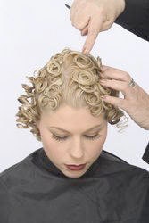 Pin curls - Blonde, Styles, Female, Adult hair, Pin curls hairstyle picture