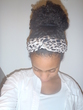 high bun - Curly kinky hair, 3c