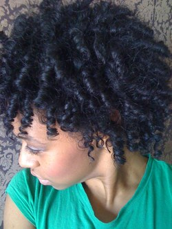 kinky curls on the 3rd day - 3c, Medium hair styles, Kinky hair, Twist hairstyles, Readers, Female, Curly hair, Black hair, Adult hair, Kinky twists, Twist out hairstyle picture