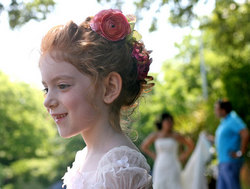Perfectly poised - Redhead, 3a, Kids hair, Updos, Wedding hairstyles, Summer hair, Styles, Curly hair hairstyle picture