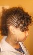 natural curly mohawk style - Kinky hair