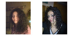 storm, Before and After - Brunette, 3b, Long hair styles, Female, Curly hair, Makeovers, Deva Curly Girl Challenge hairstyle picture