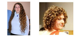 Ms. Temple, Before and After - Blonde, 3b, Short hair styles, Female, Curly hair, Makeovers, Deva Curly Girl Challenge hairstyle picture