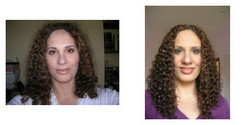 Bythia, Before and After - Makeovers, Deva Curly Girl Challenge hairstyle picture