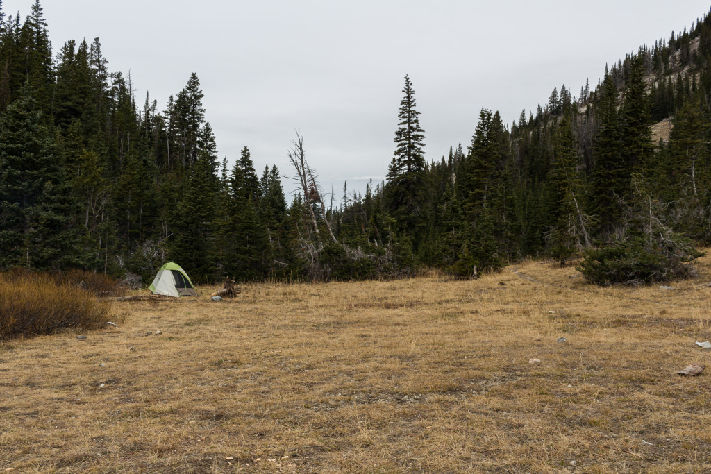 "Many ""almost"" flat areas to pitch a tent."